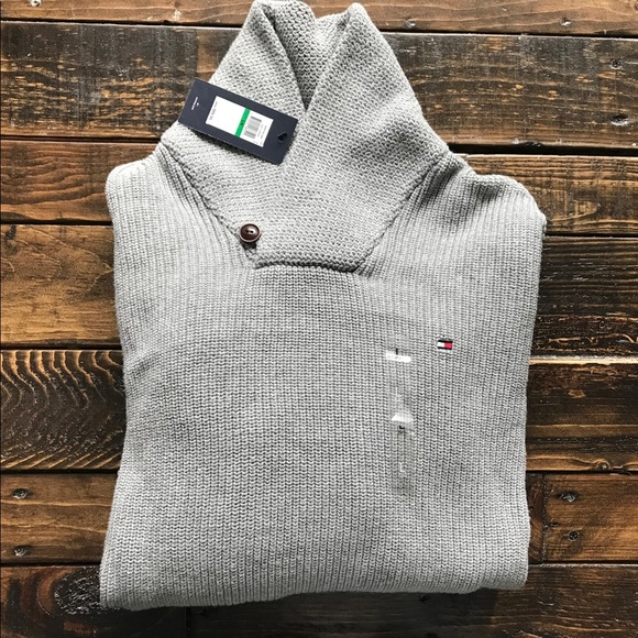 Tommy Hilfiger Other - NWT Men's Tommy Hilfiger Gray Collared Sweater